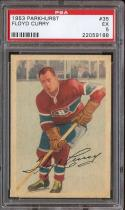 1953 PARKHURST #35 FLOYD CURRY PSA 5 CANADIENS NICELY CENTERED