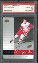 2001 U.D. LEGENDS #99 MR. HOCKEY GORDIE HOWE PSA 10 RED WINGS