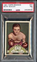 1951 TOPPS RINGSIDE #27 PETEY SCALZO PSA 7