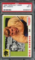 1955 TOPPS ALL-AMERICAN #70 BILL DADDIO PSA 7 PITTSBURGH *DS2859